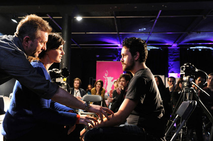 "Kristof Konrad teaching ""Acting for the Camera"" Workshop, Berlinale 2012"