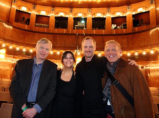 Myrna Makaroon, Sebastian Denz, and Jean-Louis Rodrigue at Berlinale 2015